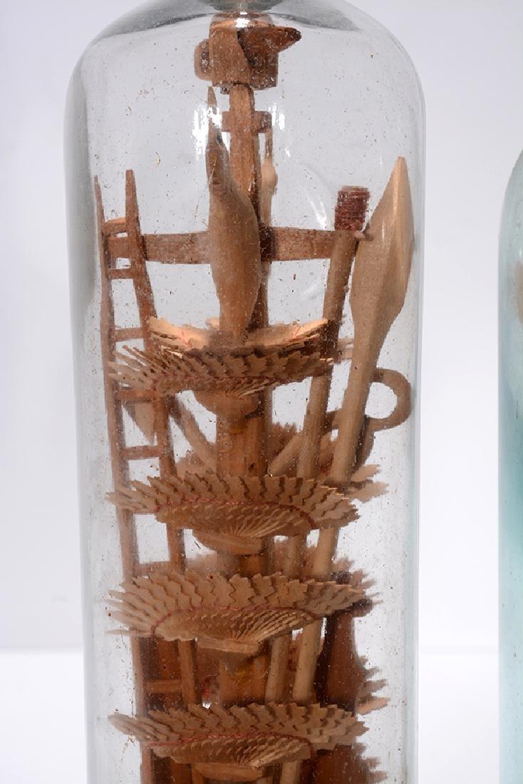 Birds On Fan Tree and Cross In A Bottle Whimseys. - 4