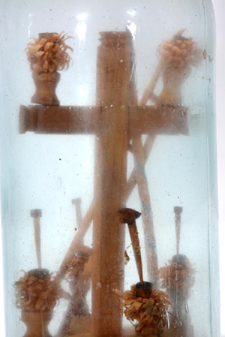 Birds On Fan Tree and Cross In A Bottle Whimseys. - 5