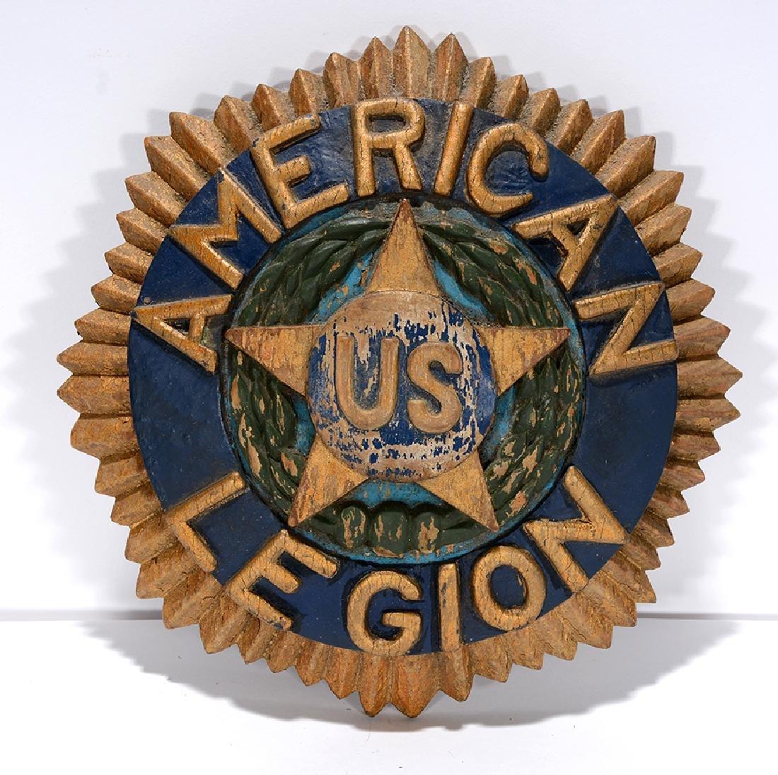 W.F. Barr. American Legion Sign.