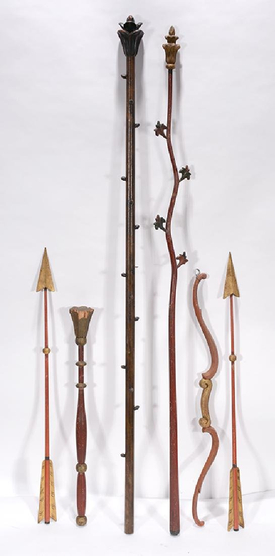 Odd Fellows Lodge Staffs, Arrows, Bows.