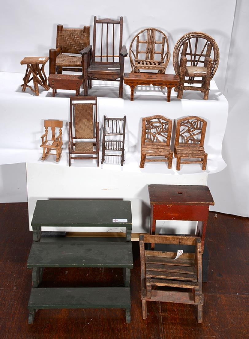Chairs and Side Benches.