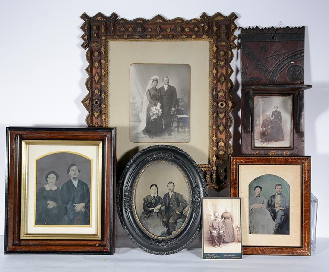 Tintypes & Photographs.  6 Portraits Of