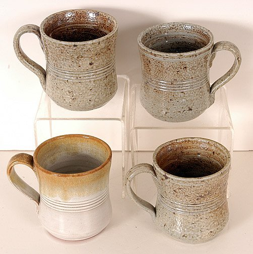 11: Owens Pottery Four Coffee Mugs.
