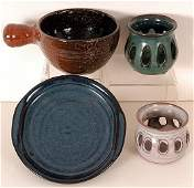 12: Owens Pottery - Four Pieces