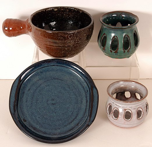 12: Owens Pottery - Four Pieces