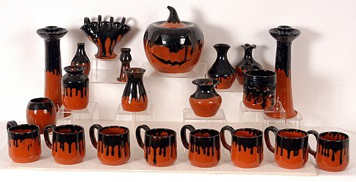 15: Cole Pottery Halloween Cole Pottery Grouping.