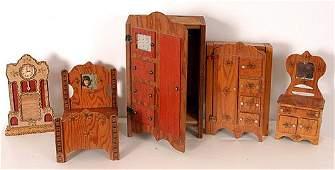 193: Howard Finster Set of Doll House Furniture.