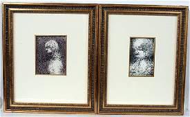 387 Malcolm McKesson Pair of Portraits