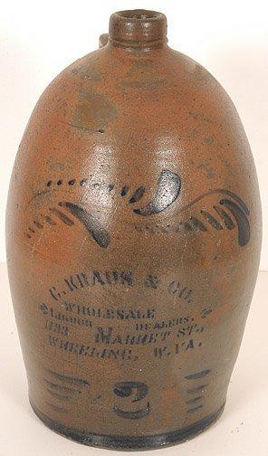 2: G. Kraus & Co. Salt Glaze Whiskey Jug
