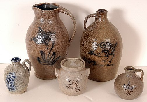 4: Westmoreland & Owens Group of Five Pottery Pieces