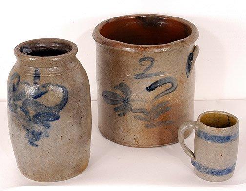 7: Three Salt Glaze Ceramic Pieces