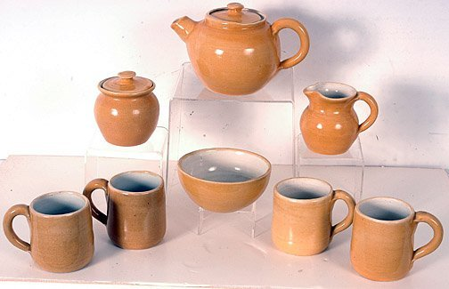 16: Pisgah Forest Mustard Color Pottery
