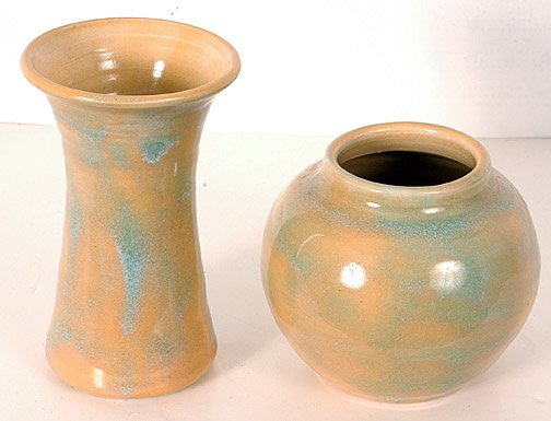 18: Pisgah Forest Pottery Vase and Bowl