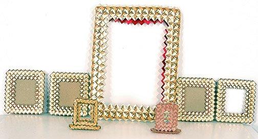 281: Prison Art 7 Folded Cigarette Pack Frames.