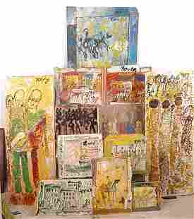 487: Purvis Young Group of 11 Paintings.
