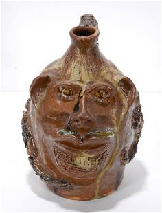Marie Rogers. Snake Face Jug.