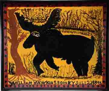 William Hawkins. Elk With Human Eyes.