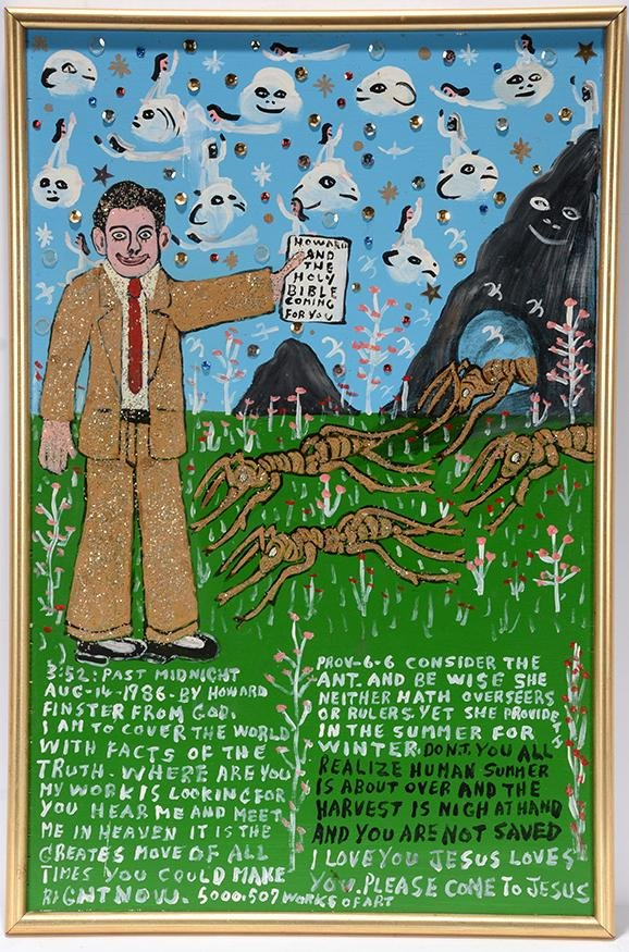 Howard Finster. Prov-6-6 Consider The Ant.