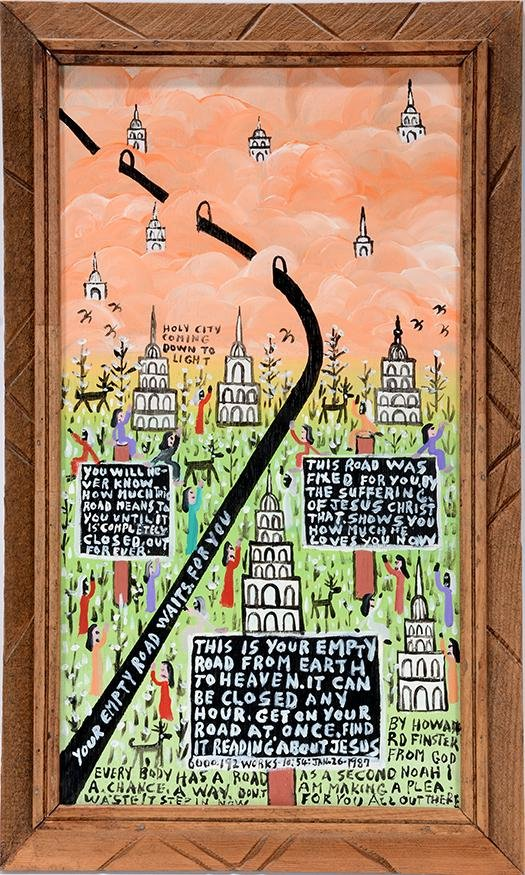 Howard Finster. Your Empty Road Waits...