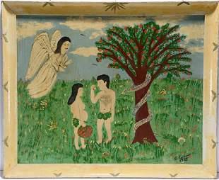 Antonio Esteves. Adam & Eve with Angel & Serpent.