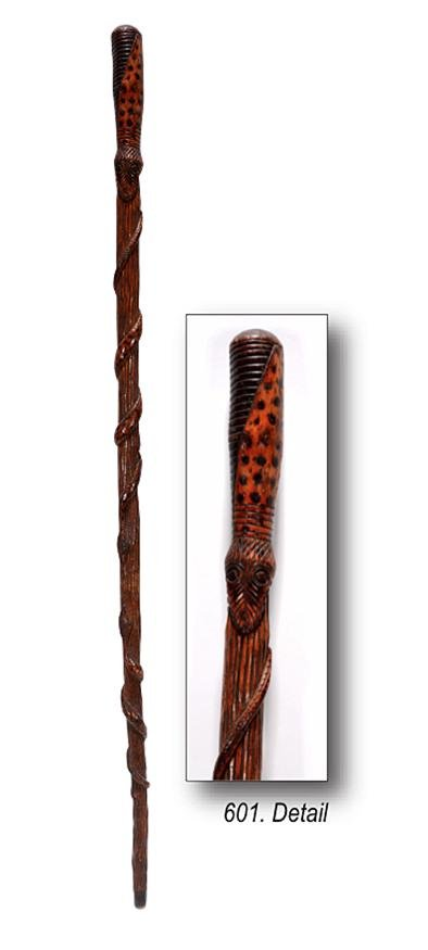 Antique Folk Art Walking Stick.