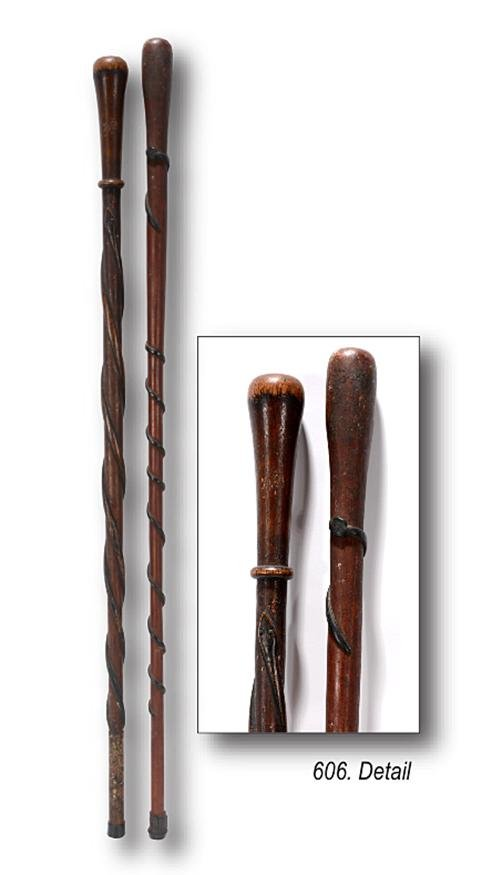 Early Thin Winding Snake Canes.