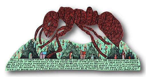 Howard Finster. Prov -6-6 Consider Ant Cut Out.