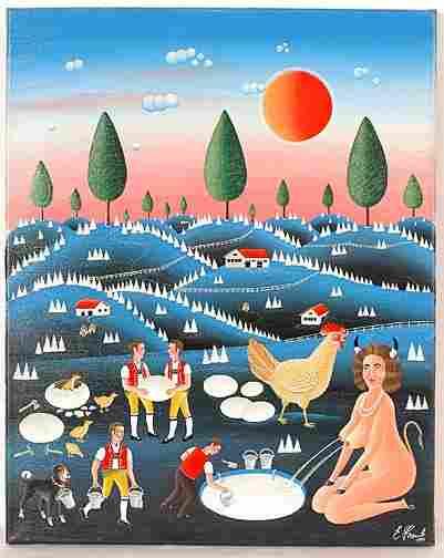 270: Erich Staub. Nude Spouting Milk