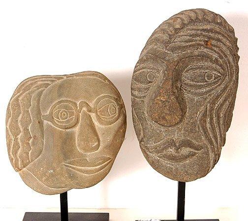 510: David Marshall .Two Stone Heads