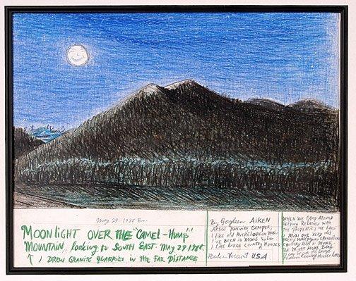521: Gayleen Aiken. Moonlight Over Camel Hump Mtns