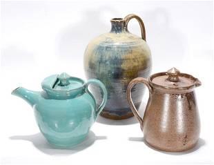 Teague & Kenneth. 3 Art Pottery Pieces.