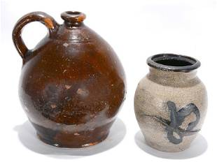 Hall & Unknown. Pair of Jugs.