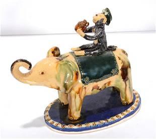 Billy Ray Hussey. Monkey Riding Elephant.