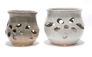 Anita Meaders. Leaf Motif Candle Holders.