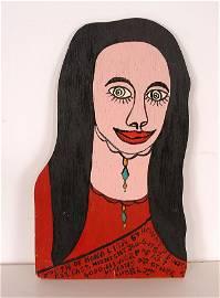 Howard Finster. Mona Lisa.