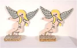 Howard Finster. Pair of Baby Angels.