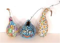Howard Finster. Three Gourds.