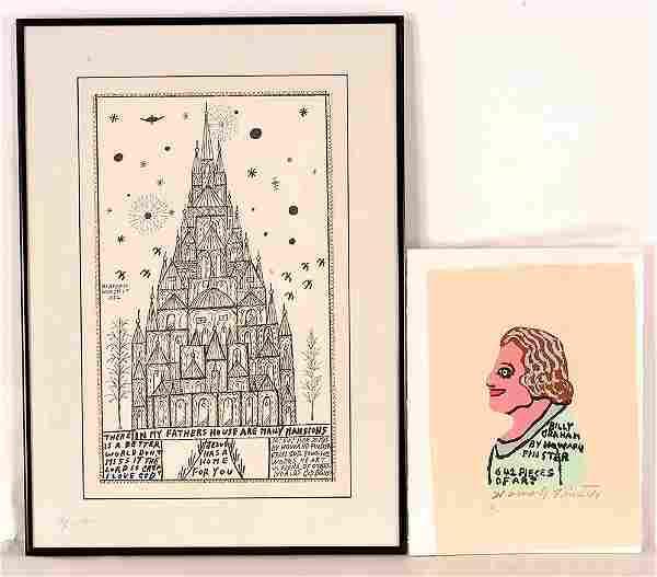 Howard Finster. Pair Of Prints.