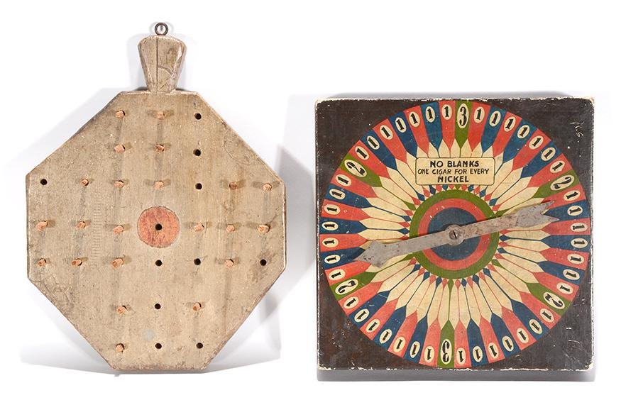 Cigar Game Of Chance & Peg Game Board.