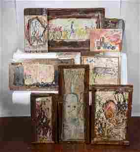 Purvis Young. Group of Nine Works.