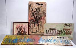 Purvis Young. Group of Four Works.