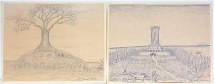 Victor Joseph Gatto Pair of Drawings