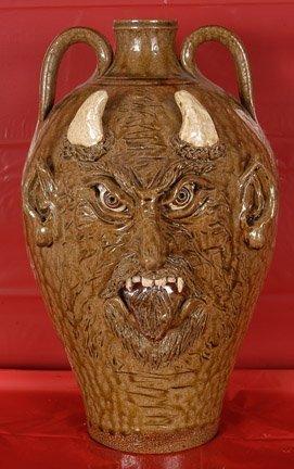 6: Sandy Cole, Large Devil Face Jug