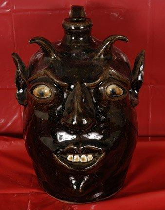 15: David Meaders, Devil Face Jug.