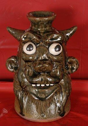 18: Clete Meaders, Bug-Eyed Devil Jug.