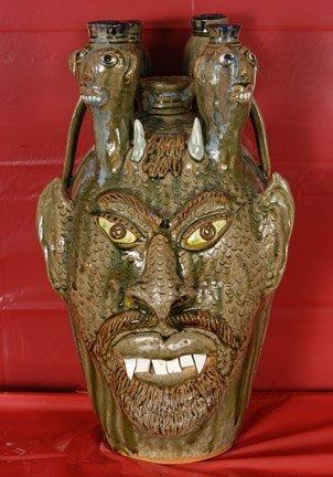19: Albert Hodge, Green Devil Candelabra.