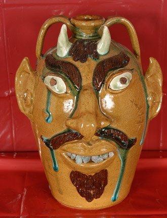 20: Albert Hodge, Yellow Face Devil Jug.