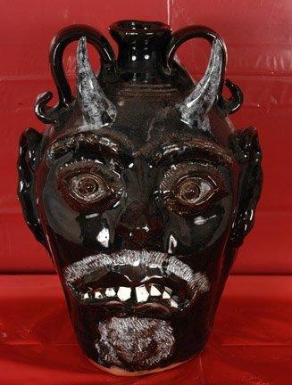 22: Bobby Ferguson, Large Black Devil Jug.