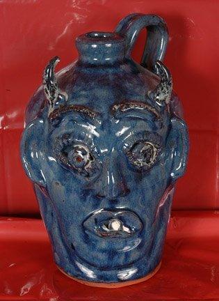 23: Bobby & Mary Ferguson, Blue Devil Jug.
