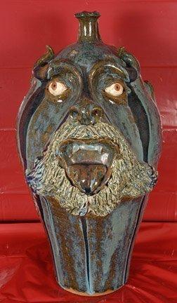 24: W.A. Flowers, Large Devil Face Jug.